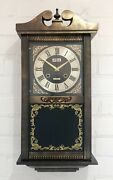 Restored Vintage Unique 31 Day Battery Wall Clock 1977