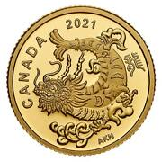 Gold Triumphant Dragon - 2021 1.58g Pure Gold Coin - Royal Canadian Mint