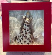 Nordstrom At Home Leopard Cheetah Print Dress Christmas Ornament Made In Poland