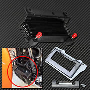 Motorcycle Oil Cooler Radiator + Chrome Outer Cover Fit For Touring 2011-2016
