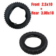 Motocross Front 2.50-10 And Rear 3.00-10 Tires + Tubes For Crf50 Xr50 Ttr50 Pw50