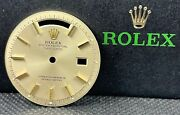 Rolex Day-date 36mm Yellow Gold Non Quickset Stick Pie Pan Dial President 1803