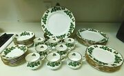 Rosina China Co. Queens Fine Bone China England Yuletide 40 Piece Set Svc For 8