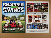 1987 Snapper Push And Riding Lawn Mowers Vintage Print Ad