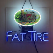 Neon Signs Gift Fat Tire Beer Bar Pub Party Store Home Room Wall Display 19x15