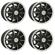 Gasser Wheels Black With Polished Lip 5.5 Wide 5 On 130mm Dunebuggy And Vw