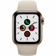 Apple Watch Series 5 40mm Gold Stainless Smart Watch Smartwatch Mwwu2ll/a New