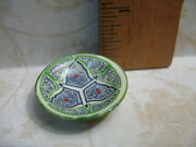 African Moroccan Oriental Turkish Pottery Bowl Platter Dollhouse Miniatures W50