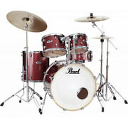 Batterie Pearl Export Standard 22and039and039 Black Cherry Glitter Blue Avec Cymbales