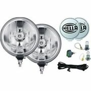 Hella 010032801 Round Driving Lights 55 Watts Clear Lens - Black Housing New