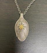 Goroand039s Silver Spoon Pendant Top With 18k Gold Used Necklace Original F/s From Jp