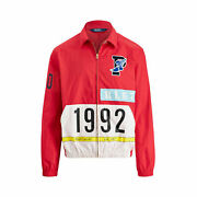 New Polo Stadium 1992 Red Windbreaker Jacket Shell P Wing Red M