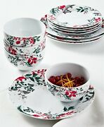 Martha Stewart Collection Holiday Royal Blush 12-pc Dinnerware Set Service For 4