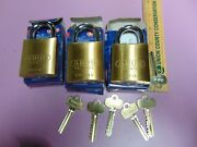 3 New Abus Ic Best Cyl. With H Core And 1 Core And 5 Keys Padlock  Locksmith