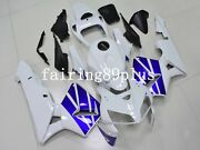 Pearl White Blue Abs Plastic Injection Fairing Kit Fit For 2005 2006 Cbr600rr