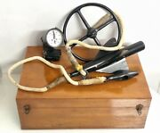 Old Nos Nautical Antiques Cassens And Plath Ship Taffrail Log With Wooden Box