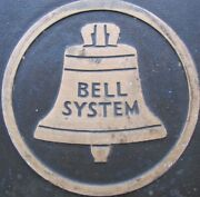 New Jersey Bell System Telephone Company Old Bronze Brass Plaque Sign 27+ Lbs
