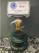 Wwii Era Antique Ford Gum Machine Special Paint Globe Decal Rare Padlock And Mor