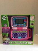 New Leapfrog 2 In 1 Leaptop Touch Cute Pretend Laptop For Toddlers Pink Gift Nwt