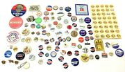 Large Mixed Lot Political Campaign Original And Repro Pins Pinbacks Kennedy Nixon