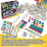 Glow In The Dark Rock Painting Arts And Craft Kit For Kids Andndash Supplies For Painti