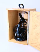Zeiss Microscope Set With 3 Eye Pieces And 3 Objective Lenses - Excellent++