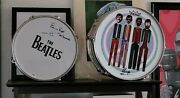 Ringo Starr Signed Art Remo Drumhead And Pete Best Signed Drumhead Both With Coa