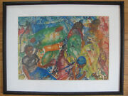 Chain Muhandi Oil Painting African Black Expressionist Figural Kenyan Listed Art