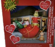 Gemmy Christmas Inflatable 12ft Sleigh With Max