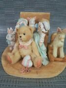 Cherished Teddies Figure-christopher,old Friends Are The Best Friends Iob Enesco