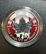 2019 Canadian Patriotic Silver Maple Leaf 1 Oz Coin -1 Troy Ounce .9999 Silver