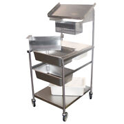 Mobile Bread And Batter Station, Full Size, Stainless Steel