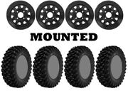 Kit 4 Superatv Xt Warrior Sticky Tires 30x10-14 On Itp Delta Steel Black 550