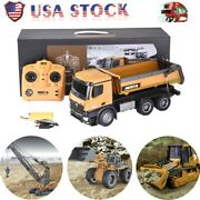 Huina Toys 1573 1/14 2.4g 10ch Alloy Dump Truck Excavator Engineering Rc Car Rtr