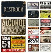 Novelty Funny Metal Signs Man Cave Garage Bar Cafe Warning Wall Plaque For Home