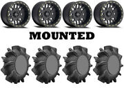 Kit 4 Superatv Assassinator 29.5x10-14 On Method 406 Beadlock Matte Black 1kxp