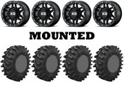 Kit 4 Superatv Terminator Tires 34x10-15 On Kmc Xs228 Machete Beadlock Black Irs