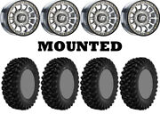 Kit 4 Superatv Xt Warrior Std 32x10-14 On Sedona Sano Beadlock Machined Hp1k