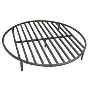 Round Fire Pit Grate 30and039and039 Heavy Duty Grill Cooking Campfire Camp Ring 1/2 Steel
