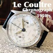 Lecoultre Manual Winding Menand039s Wristwatch Chronograph Rare Vintage F/s From Jpn