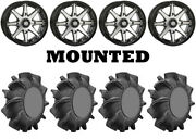 Kit 4 Superatv Assassinator Tires 32x8-14 On Sti Hd10 Machined Wheels Vik