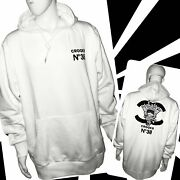 Crooks And Castles Embroidered Logo Hoodies Arctic White