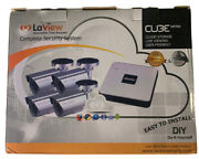 Laview Complete Security System Cube Series 4ch 4 Camera Kit