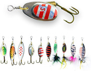 Rlp Fishing Lures Spinnerbait For Bass Trout Salmon Walleye Hard Metal Spinner B