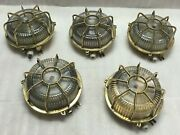 Nautical Old Antique Ship Brass Bulkhead Deck Lights - For Easter Party Lot 5