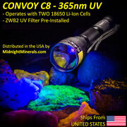 Uv Flashlight Way Too Cool Convoy C8+ 365nm Filtered Longwave Led Mineral