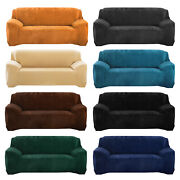 1/2/3/4 Seater Velvet Stretch Sofa Covers Chair Slipcover Furniture Protector