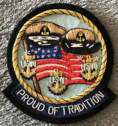 """Rare U.s Navy Chief Petty Officer Cpo """"proud Of Tradition"""" Bullion Patch 3""""x3"""""""