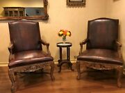 Bishop Leather Chairs Set Of 2 Abc Carpet And Home New York City 800 Each