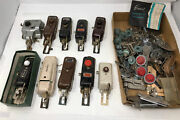 Huge Lot Vintage Sewing Parts And Accessories Buttonholer Machines Singer White